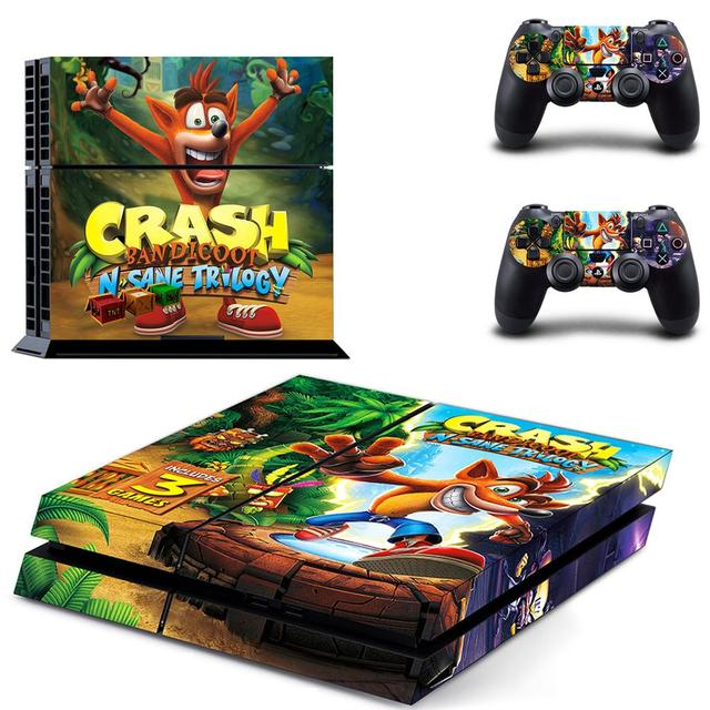 Crash Bandicoot N Sane Trilogy PS4 Stickers Play station 4 Skin Sticker Decal For PlayStation 4 PS4 Console & Controller Skins