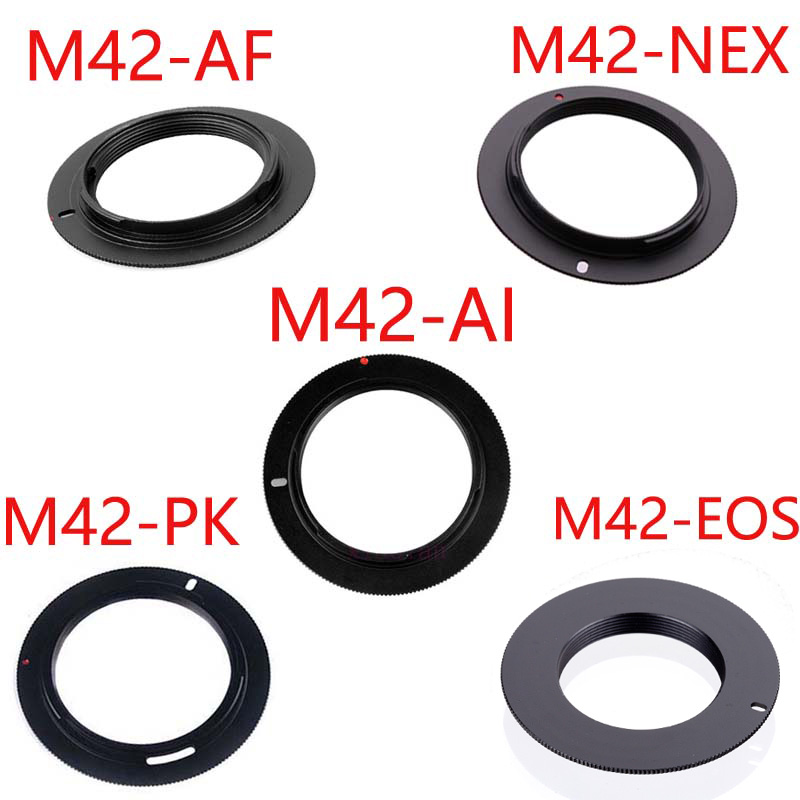 50 шт./лот для M42-EOS M42-AI M42-AF M42-PK алюминиевый M42 винтовой адаптер объектива для Canon Nikon Sony pentax объектив камеры