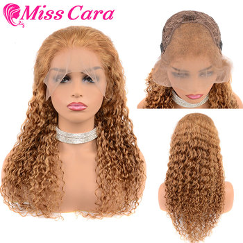 Miss Cara Remy Hair Wigs Malaysian Deep Wave Lace Frontal Human Hair Wigs With Baby Hair Lace Front Wig Wig Pre Plucked Hairline