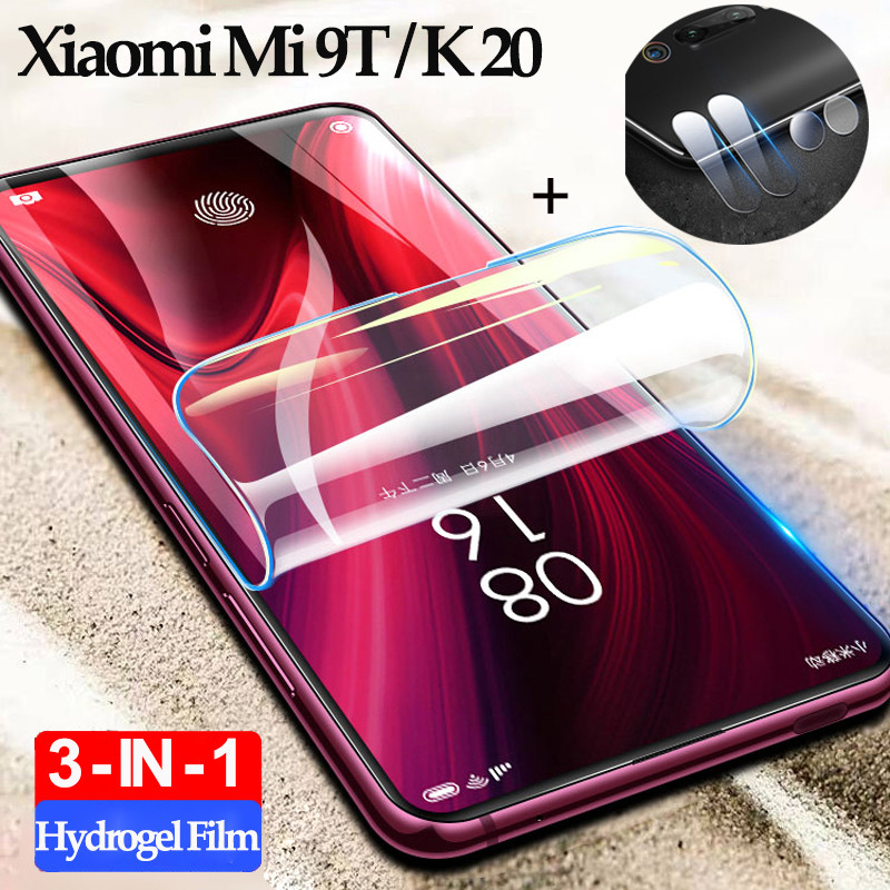 2-3Pcs Pelicula,hydrogel Film Xiaomi Mi 9T Pro Screen Protector Mi9 T Xiomi Redmi K 20 Pro Soft Camera Glass Mi 9 Mi9T 100D Film