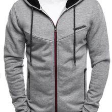 ZOGAA 2019 Plus Size Men Hoodies Jacket Autumn Winter Drawstring Zipper Hooded S