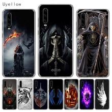 Uyellow Silicone Phone Case For Huawei P10 P20 P30 Lite Pro Hawei Mate 10 20 lite P Smart Plus 2019 Grim Reaper Skull