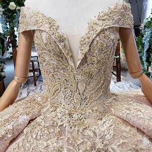 Image 4 - HTL151G plus size evening dress long with skirt off shoulder ruffle layer elegant long evening gowns dubai kaftan robe soirée