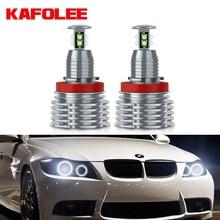 KAFOLEE 2xPCS Halo Ring Lights H8 Angel Eyes LED Marker White Red Blue Yellow Color 80W for BMW E92 E90 X5 E71 X6 E82 M3 E60 E70