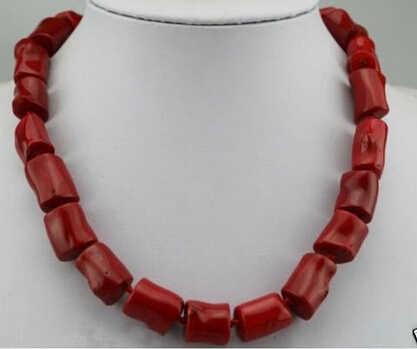 +++ 818 echtem süße rote koralle perle jewerly tibet silber halskette