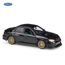 WELLY 1:24 SUBARU IMPREZA WRX STI sports car simulation alloy model crafts decoration collection toy tools gift