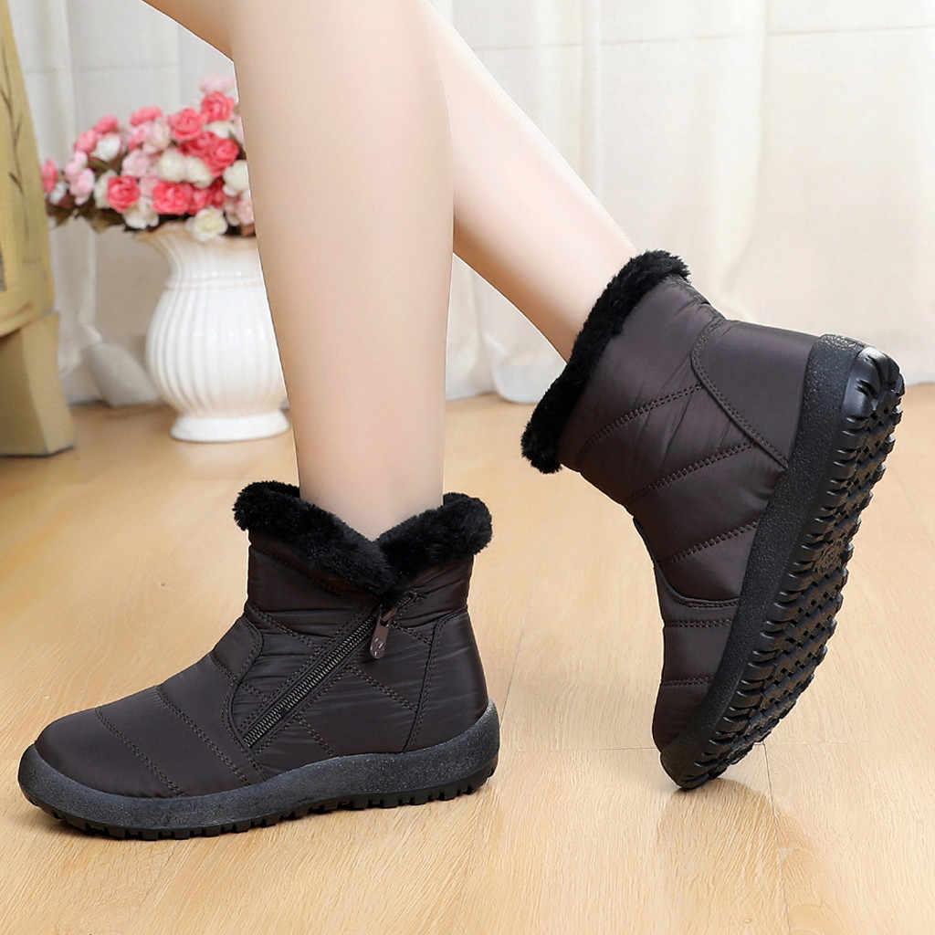 Kadın Botları Sonbahar Kış kadın Kar Botları Kış Ayak Bileği Kısa Bootie Su Geçirmez Ayakkabı sıcak ayakkabı anne ayakkabısı