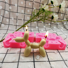 Animal Balloon Dog Ornament Silicone Mold Aromatherapy Candle Mould Home Decor Figurine DIY 3D Craftwork