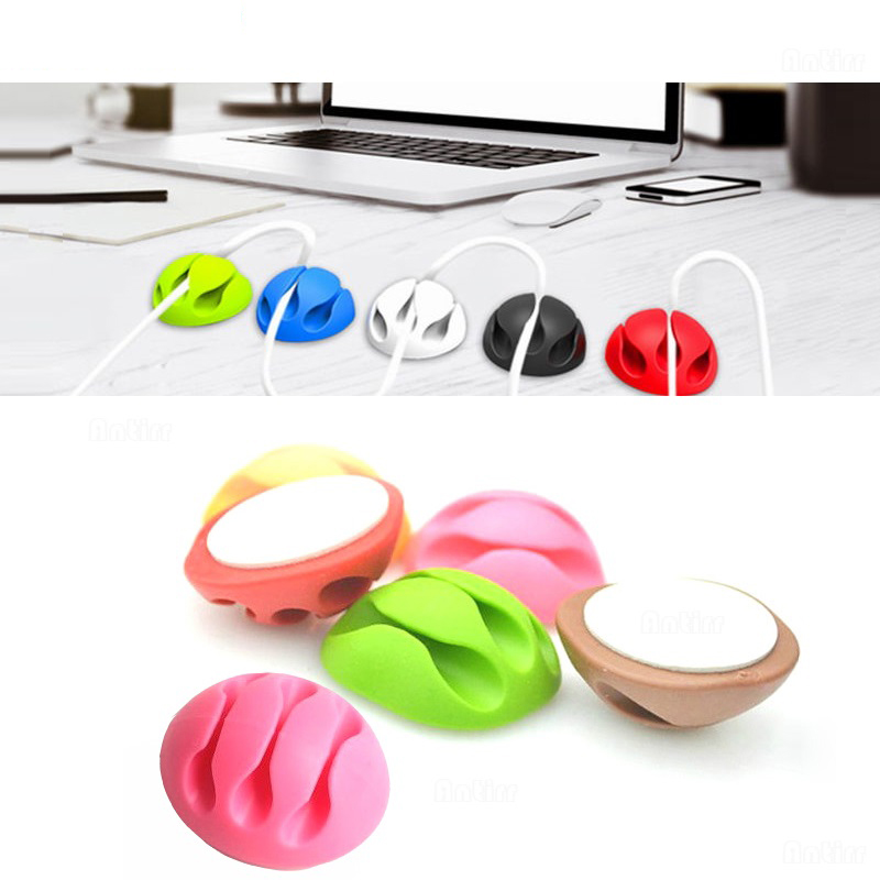 Wire Holder 2020 New Cable Winder Earphone Office Management Organizer Wire Self-Adhesive Desk Cord Holder Cable Clips 3 Slot