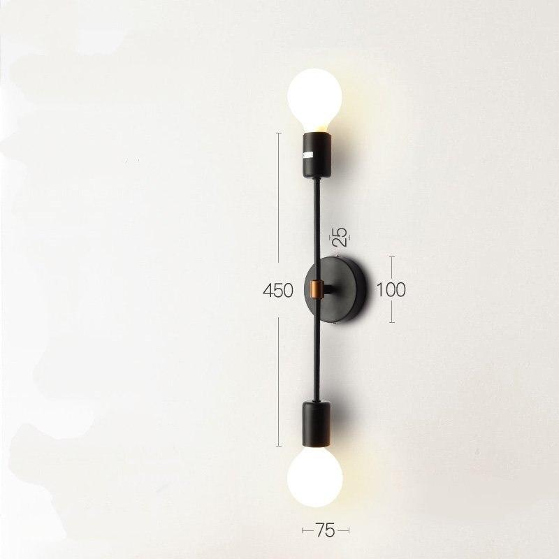 Купить современные модные железные двойные светодиодные настенные лампы