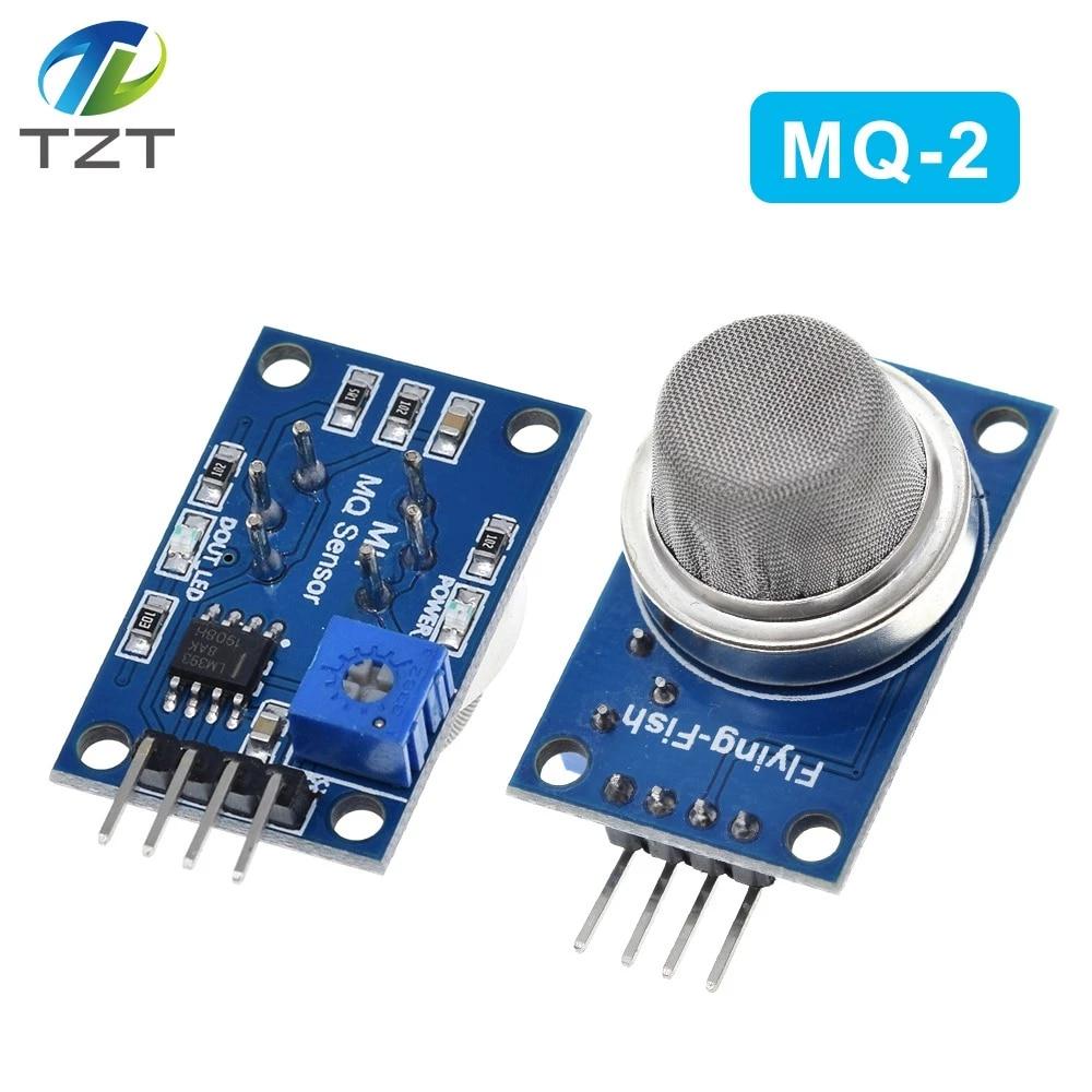 2Pcs For Arduino Gas Sensor MQ-2 MQ2 Smoke Gas Lpg Butane Hydrogen Detector gw
