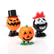 Halloween decorations jumping pumpkins on the chain creative Christmas small toys ghost festival walking vampire children gifts iwish halloween wind up on the chain jump ghost white human skeleton jumping human skull for children toys all saints day gift