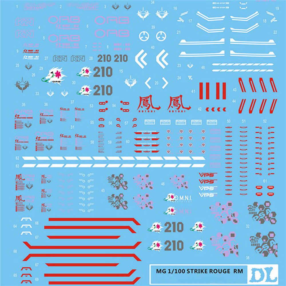 Decalque da Corrediça de água Decalques Adesivos Colar para Versão Kit Modelo Gundam Bandai MG 1/100 Greve Rouge RM Acessórios Peças
