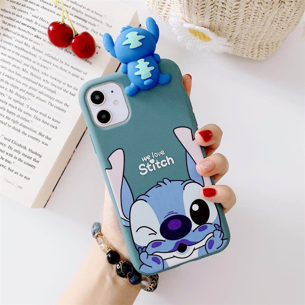 3D Cartoon Stitch Case Cute Toy Soft TPU Cover For Xiaomi Mi Redmi Note 5 6 7 9 Pro Max 9S Cases Coque Funda