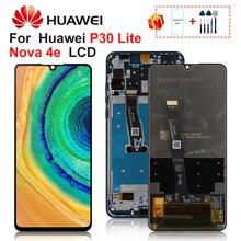Original Huawei P30 Lite pantalla Lcd Nova 4e Digitalizador de pantalla táctil MAR LX1 LX2 AL01 parte de reemplazo