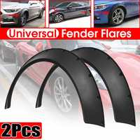 Universal 2pcs Car For Fender Flares For Cars Body Kits Mud Splash Guard Wheel Arches Extension For BMW For Benz For Ford