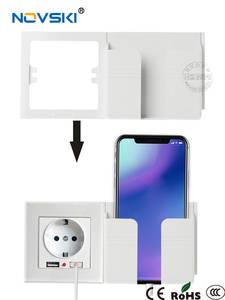 NOVSKI Rack-Holders Wall-Socket Mobile-Phone-Holder Smartphone Usb-Charging-Stand 11