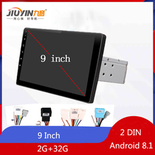 JIUYIN Car Multimedia Player 9 2G+32G For Android 8.1 Stereo 2 DIN Bluetooth WIFI GPS Nav Quad Core Radio Video MP5