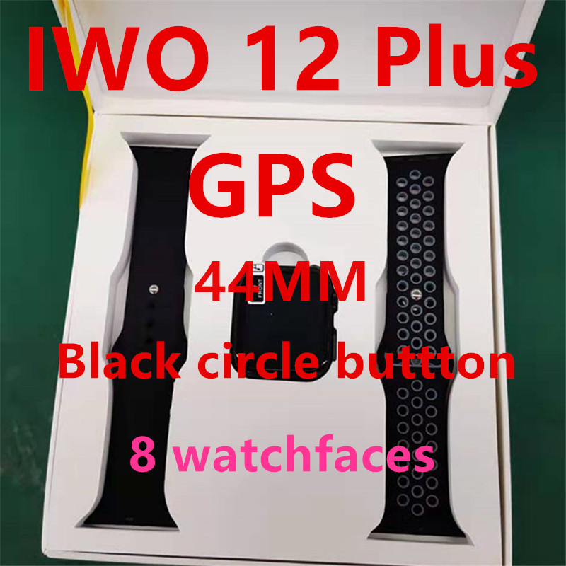 Bluetooth IWO11 IWO 12 Plus GPS Smart Watch Men Series 5 1:1 IWO 9 Pdated GPS Tracker Sports Smartwatch For Apple IPhone Android