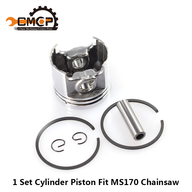 1 Set MS170 Gaslione Chainsaw Spare Parts Kit 37mm Cylinder Piston Ring Pin Kit Chainsaw Piston