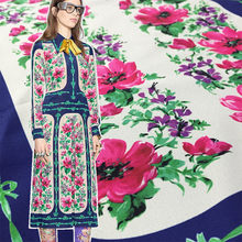 Flower Printing Italian GU Brand Fashion Fabric Polyester Woven Crepe De Chine Garment Shirt Fabrics Per for Dress Meter Sewing