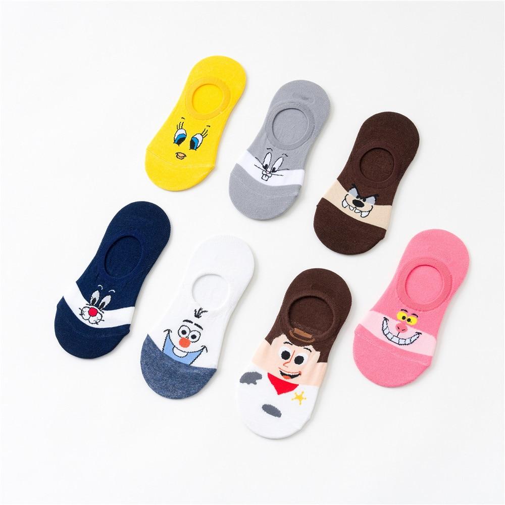 Summer Leisure Female Socks Korean Female Animal Cartoon Mouse Ankle Socks Cute Invisible Socks Thin Cotton Socks Slippers