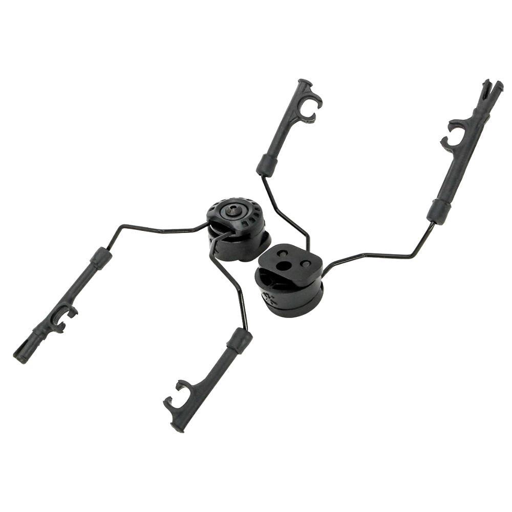 ARC Rail Adapter Helmet bracket Left & Right Side Attachments for Peltor Comtac Headphones,1 Pair BK