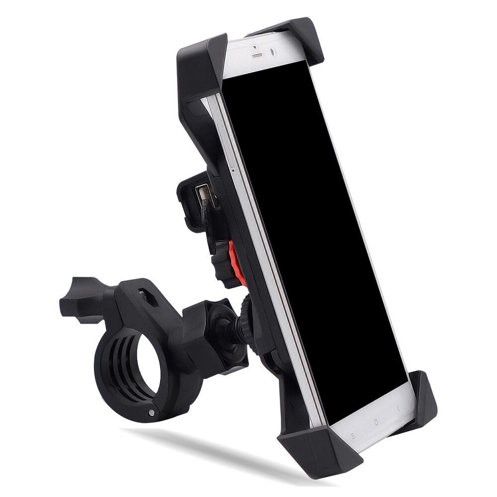 """Мотоцикл USB изменение руль/заднего вида мобильного телефона держатель Поддержка велосипеда силиконовый для 3,5-6 """"мото оборудования"""