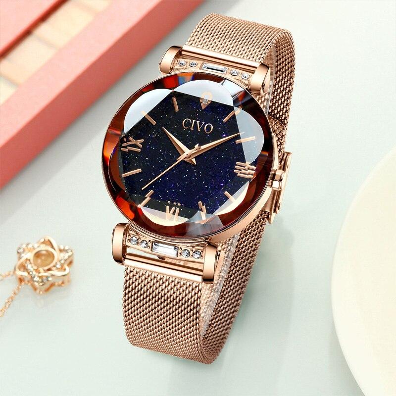 Image 3 - CIVO fashion women watch luxury waterproof wrist watches for women crystal quartz watch 2019 ladies gift clock Relogio FemininoWomens Watches   -