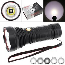 30W 3000LM Brightest XML-L2 LED Tactical Flashlight Powerful Torch  6 Lighting Mode Waterproof+ Rechargeable Battery for Hunting 30w 3000lm brightest xml l2 led tactical flashlight powerful torch 6 lighting mode waterproof rechargeable battery for hunting