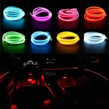 цены на Car Styling 2M LED Flexible Neon Auto Interior Light 12V Dance Party Decor Atmosphere Light USB Cigarette Sound Control Drive  в интернет-магазинах