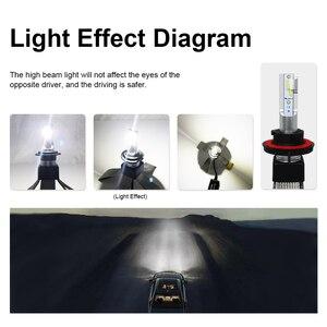 Image 5 - LED H4 H7 سيارة المصابيح الأمامية سيارة إكسسوارات مضيئة LED H1 9006 hb4 9005 H11 Automotivo كشافات أضواء 6000K الضباب أضواء