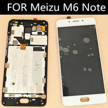 with frame For Meizu Meilan Note 6 FOR Meizu M6 Note  LCD Display Touch Screen  Assembly Replacement  5.5 inch