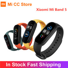 Xiaomi Mi Band 5 Smart Armband 1,1 Zoll AMOLED Bildschirm Fitness Tracker Heart Rate Monitor Smart band 4 Farbe miband 5