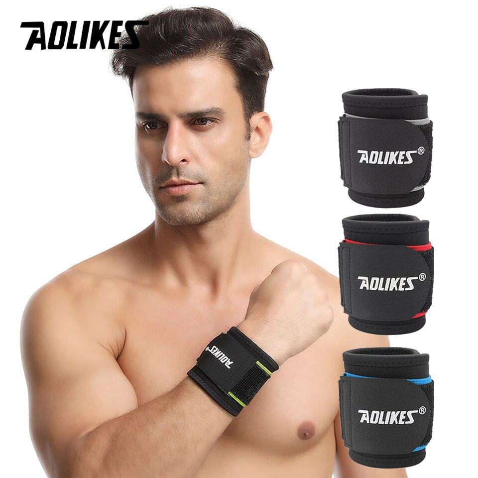 AOLIKES 1 шт. регулируемый спортивный браслет, повязка на запястье, повязка для поддержки, ремешок для спортзала, защитный спортивный браслет дл...