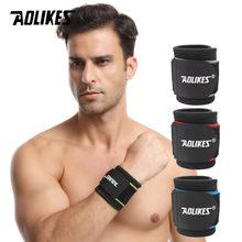 AOLIKES 1 adet ayarlanabilir spor bileklik bilek bilek koruyucu bandaj destek bandı spor salonu kayışı güvenlik spor bilek koruyucu el bantları