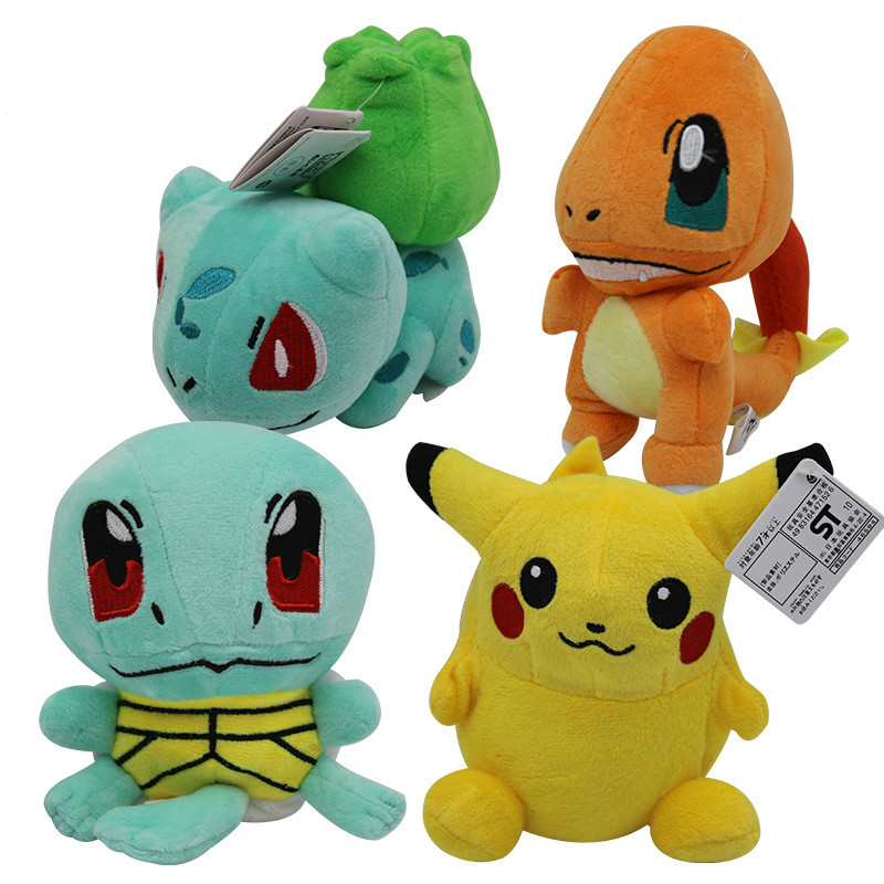 takara-tomy-pet-elf-font-b-pokemon-b-font-small-fire-dragon-frog-seed-jenny-turtle-picachu-plush-toy-doll
