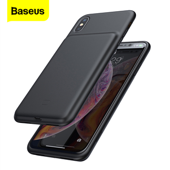 Baseus Battery Charger Case For iPhone Xs Max Xr X Powerbank Charging Case For iPhone Xsmax Power Bank External Charger Cover 20000mah solar power bank dual usb powerbank waterproof external battery portable solar battery charger charging with led light