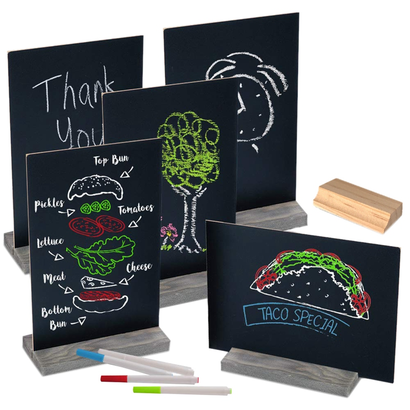 Mini Chalk Board Double Sided Chalkboard Sign With Stand Tabletop Chalkboards For Wedding Decorations Signs And Other