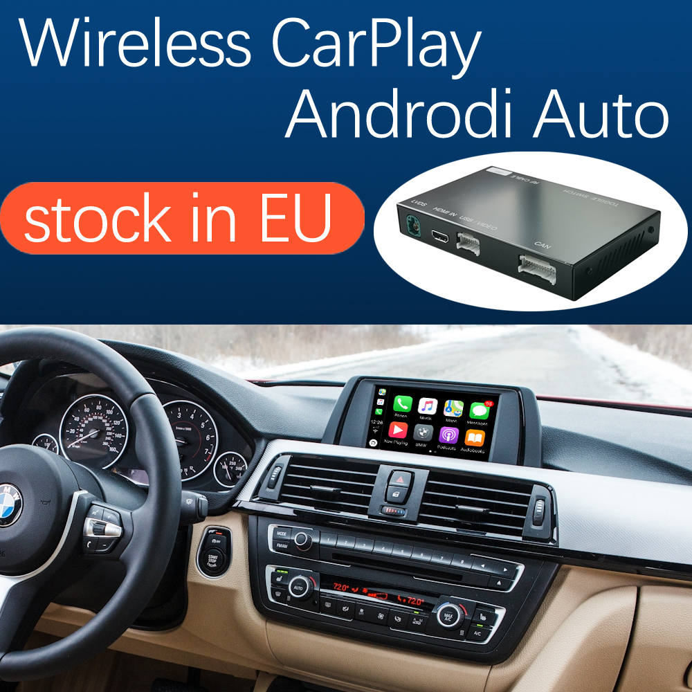 Wireless Apple CarPlay Android Auto for BMW 3 4 Series F30 F31 F32 F33 F34 F35 F36 2011-2016, with Mirror Link Car Play Function(China)