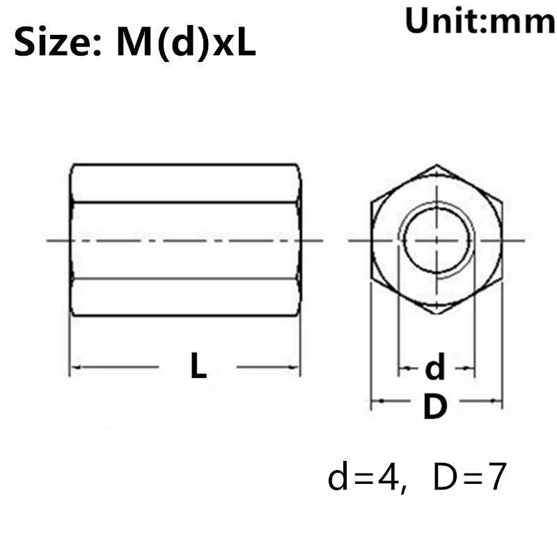 Poteau de colonne d'espacement d'alliage d'aluminium de couleur d'hexagone M4 pour l'avion électrique de modèle de voiture de jouet de RC de carte PCB