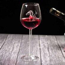 Домашний гиппокампи, бокал для красного вина, Хрустальная бутылка для вина, вечерние флейты, прозрачное стекло для свадебной вечеринки, рождественский подарок, бокал для красного вина
