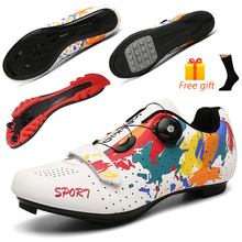 MTB Sneaker Bike-Shoes SPD Carbon-Fiber Male Road Women Man Fashion Breathable Athletic