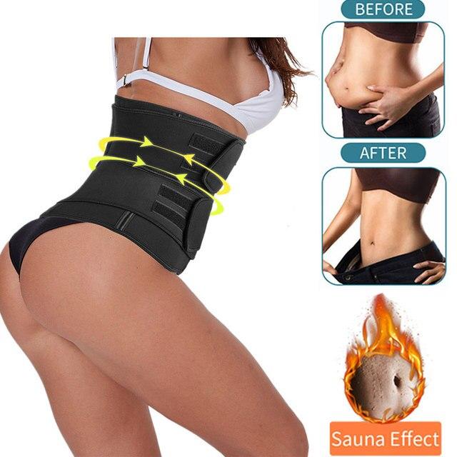 Men Women Tummy Waist Trainer Cincher Sweat Belt Trainer Hot Body Shaper Slim Shapewear Sweat Belt Waist Cincher Trainer 2020 1