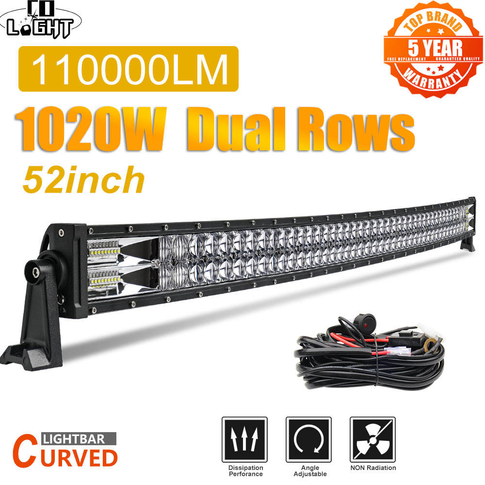 Led-Light-Bar Beam Tractor Offroad Truck SUV 4WD 4X4 Spot-Flood-Combo 24V 52 1020W 12V