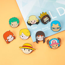 Cartoon Cute One Piece Pin Cosplay Costumes Accessories Monkey D Luffy Brooch Devil Fruit Badge Zoro Nami Anime Comicon Gift(China)