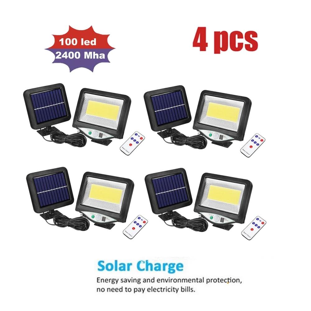 LED Solar Lichter Outdoor PIR Motion Infrarot Sensor Energiesparende Trennbar Wasserdicht Garten Lampe Hof Wand Pfad Licht fernbedienung 3