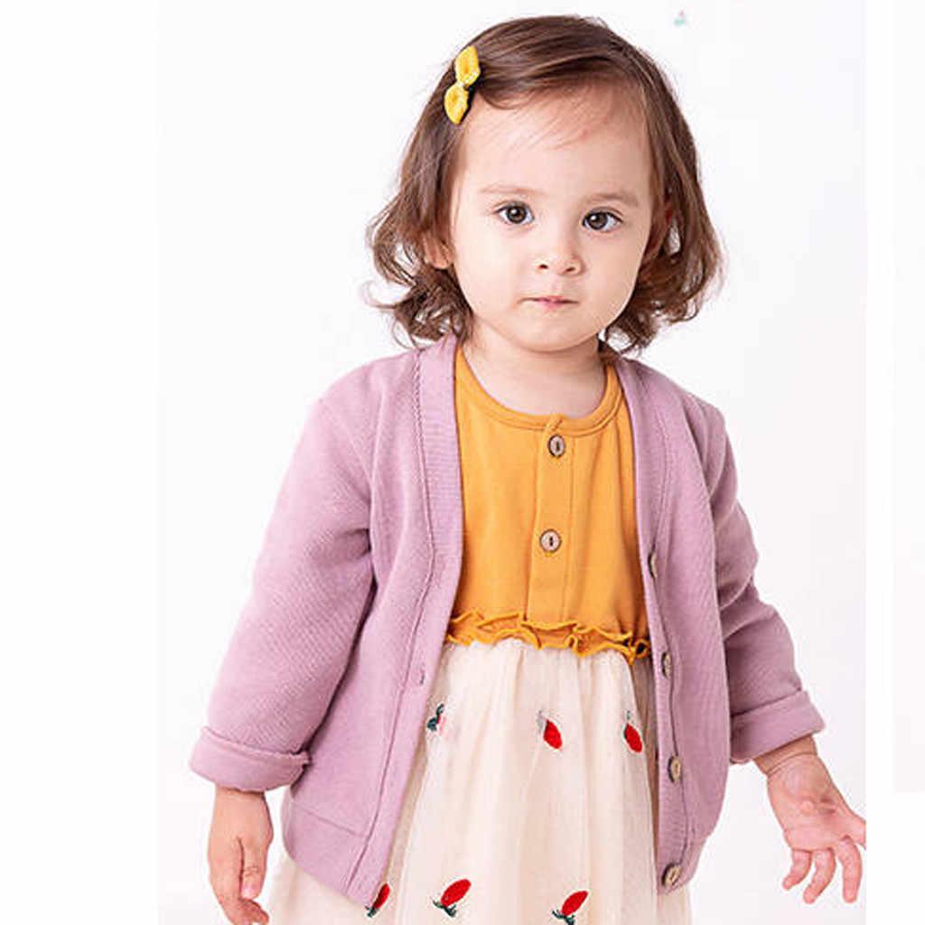 Blusas de Inverno Para As Meninas Da Moda Bebê Da Menina do Menino de Impressão Dos Desenhos Animados Camisola De Malha Quente Casaco Cardigan Tops Malhas Crianças Puxar Enfant