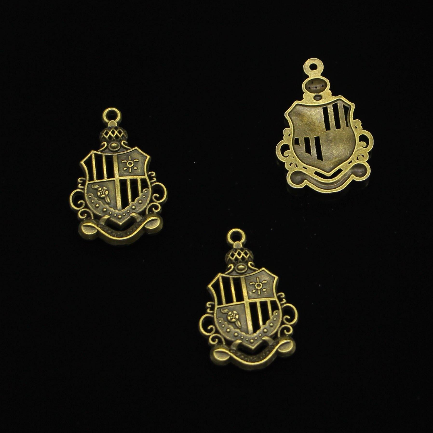 71 pçs bronze antigo chapeado império medalha de honra encantos pingente para diy colar pulseira jóias fazendo diy artesanal 28*19mm