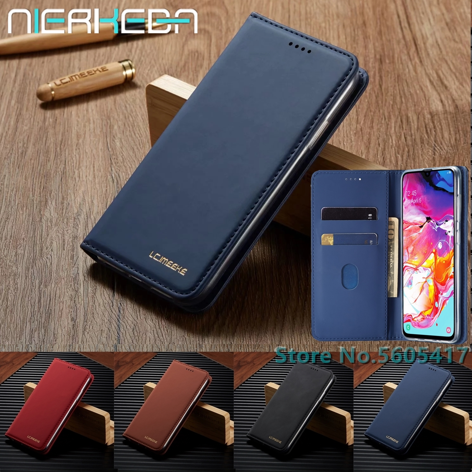 Luxury Leather Cover For <font><b>Samsung</b></font> A50 A70 Flip Wallet Case For <font><b>Samsung</b></font> Galaxy <font><b>A10</b></font> A20 A20E A30 A40 A51 A71 Card Stand <font><b>Coque</b></font> Shell image
